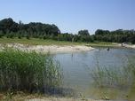 Zatopený pískový lom v Polsku